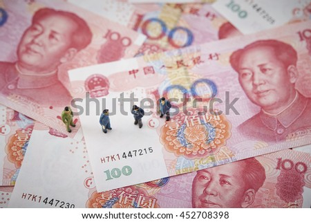 Chinese RMB bills with men