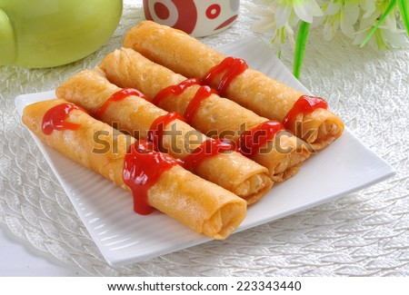 Chinese Roll-2 - stock photo