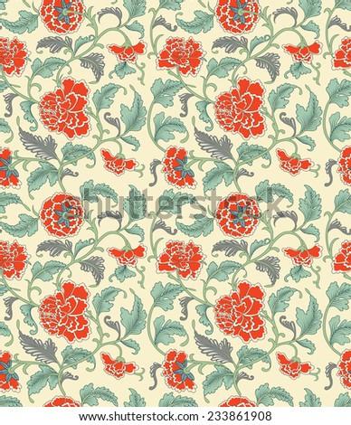 Chinese seamless pattern - stock photo