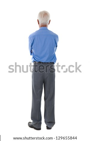 chinese senior business male back view - stock photo