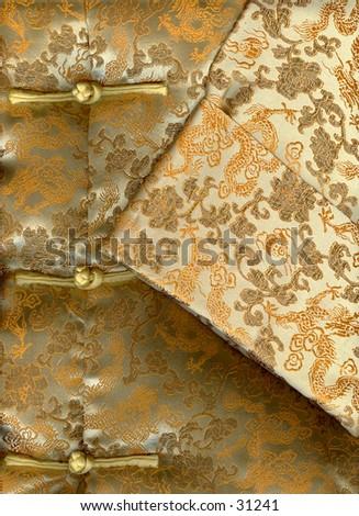 Chinese silk jacket - stock photo