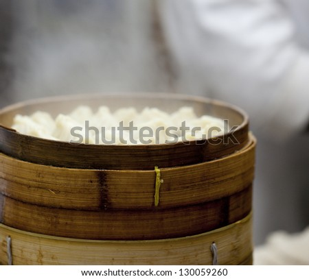 Chinese Steamed Buns in cooking process - stock photo