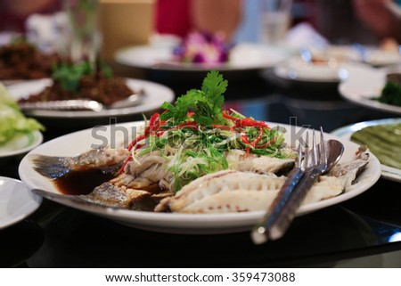 Chinese Steamed Fish in Soy Sauce
