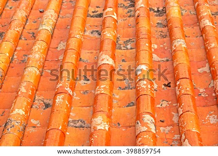 Chinese style tile roof