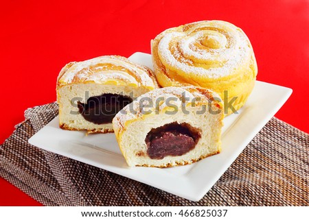 Chinese sweet red bean buns