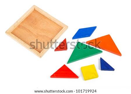 Chinese tangram - stock photo