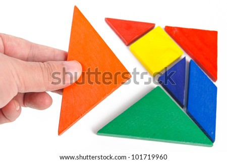 Chinese tangram - stock photo