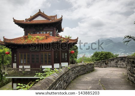 Chinese Temple and the Great Wall