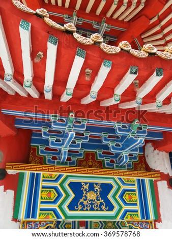 Chinese temple art, Kuala Lumpur, Malaysia - stock photo