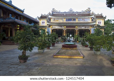 Chinese temple in Hoi An, Vietnam - stock photo