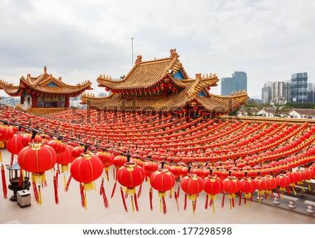 Chinese Temple Thean Hou in Kuala Lumpur, Malaysia  - stock photo