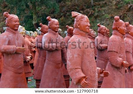 Chinese Terracotta Warriors - stock photo