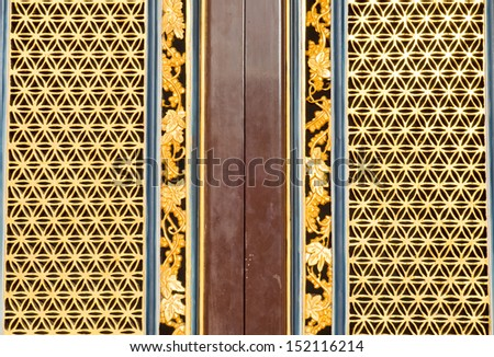 Chinese traditional door in chinese temple