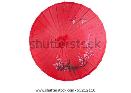 chinese umbrella - stock photo