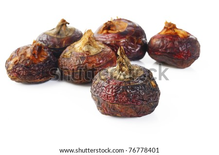 Chinese water chestnut on white