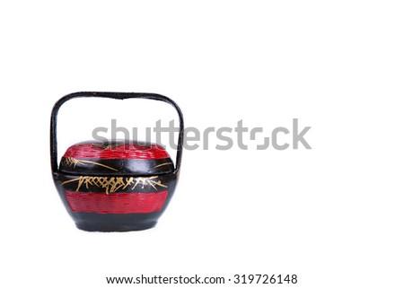 Chinese Wedding Gift Basket isolated on white background - stock photo