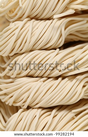 Chinese white noodle - stock photo