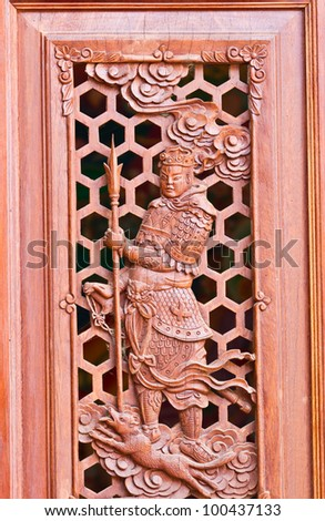 Chinese wood carving.