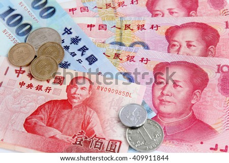 Chinese Yuan vs Taiwan Dollars - two currencies for these geopolitical regions with close trading