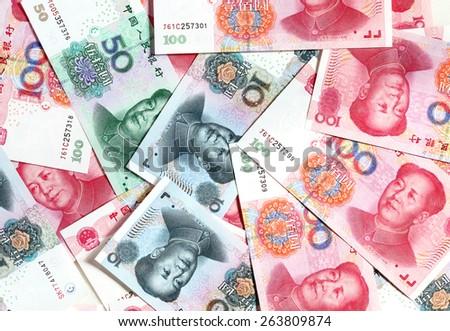 Chinese yuans - stock photo