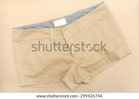 Chino shorts - stock photo