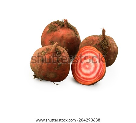 Chioggia beetroot isolated