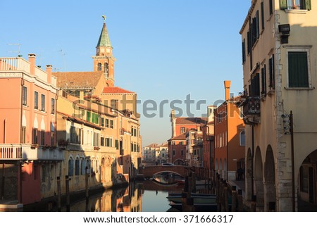 CHIOGGIA, ITALY - JANUARY, 01: View of Chioggia, little town in the Venice lagoon on January 01, 2016