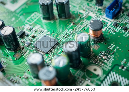 chip and capacity on electronic board