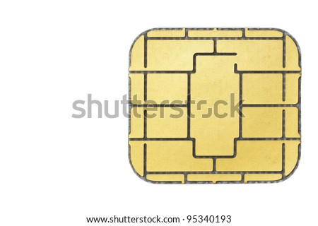 Chip card. - stock photo