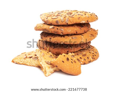 Chip Cookie isolated on white background