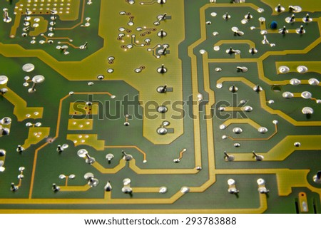 chip from electronic devices, modern technology - stock photo