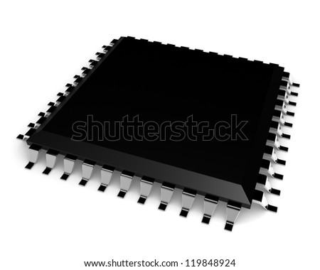 Chip isolated on white background - stock photo