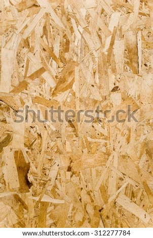 Chipboard Sheet of Pine Wood for Construction - stock photo