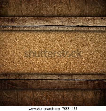 chipboard with wood frame - stock photo
