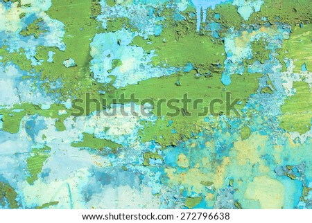 chipped paint on iron surface texture background