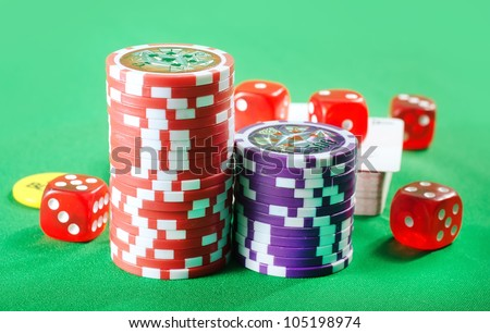 chips and card for poker