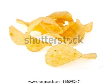 chips are isolated on a white background
