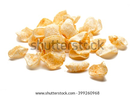 Chips isolated - stock photo