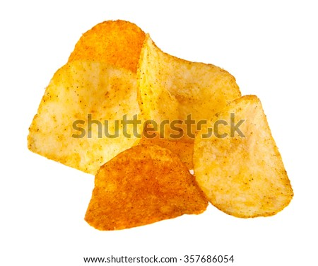 chips isolated on a white background - stock photo