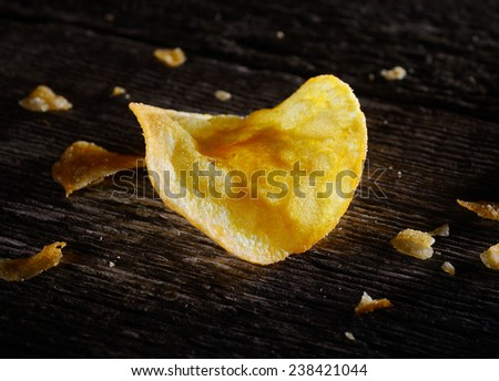Chips on the old board - stock photo