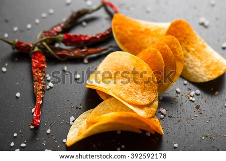 chips with paprika