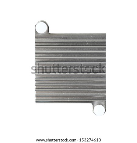 Chipset heat sink cooler isolated on white background - stock photo