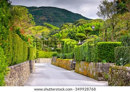 Chiran, Kagoshima, Japan at the Samurai District. - stock photo