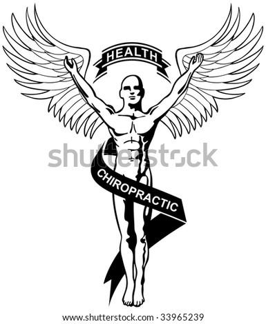 chiropractic icon - stock photo