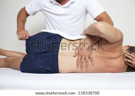chiropractic therapy - stock photo