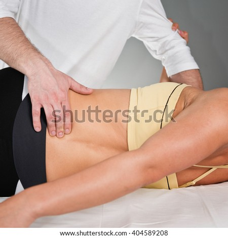 Chiropractor doing treatment
