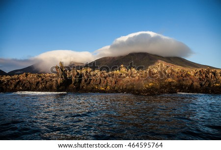 Chirpoy Island, Snow volcano activity, Russia