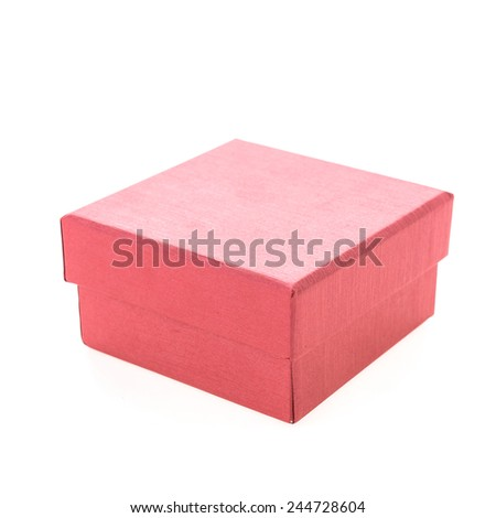 Chirstmas red box isolated on white background