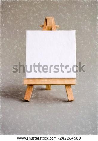 chisel  - illustration based on own photo image - stock photo