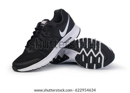 Chisinau, Moldova - February 7, 2017 : Product shoot of Nike men's running shoe.  isolated over white background